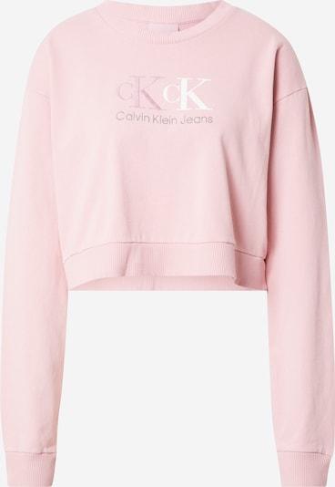 Calvin Klein Jeans Sweatshirt in hellpink / weiß, Produktansicht