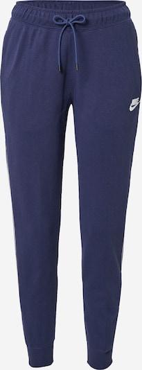 Nike Sportswear Hlače u morsko plava / bijela, Pregled proizvoda