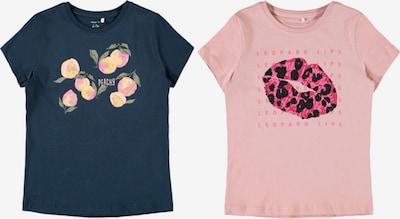 NAME IT Camiseta 'Kaia' en azul oscuro / amarillo / verde / rosa / negro, Vista del producto