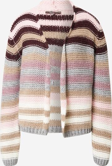 LIEBLINGSSTÜCK Strickjacke 'Katalina' in hellbraun / graumeliert / rosa / schwarz / weiß, Produktansicht