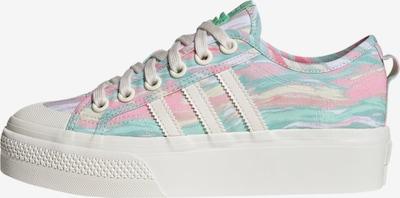 ADIDAS ORIGINALS Sneaker 'NIZZA PLATFORM' in mischfarben / weiß, Produktansicht