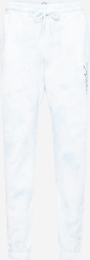 Pantaloni HOLLISTER pe negru / offwhite, Vizualizare produs