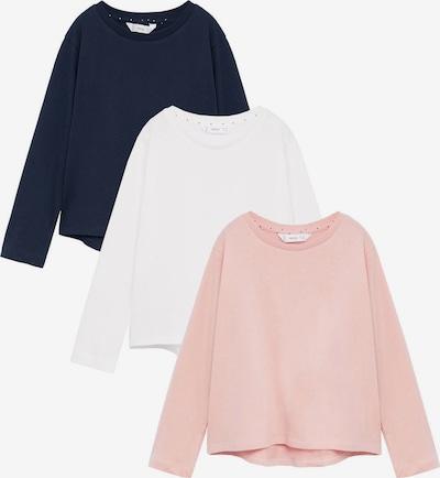 MANGO KIDS Majica u plava / prljavo roza / bijela, Pregled proizvoda