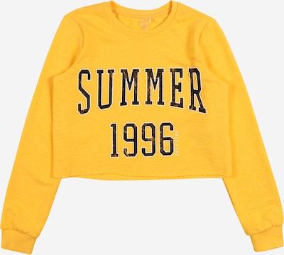 ONLY PLAY Sportief sweatshirt 'MIKA' in de kleur Geel / Zwart, Productweergave