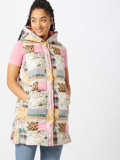 Femi Stories Bodywarmer 'Jasmin' in de kleur Gemengde kleuren, Modelweergave