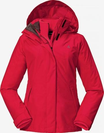 Schöffel Outdoor Jacket in Red