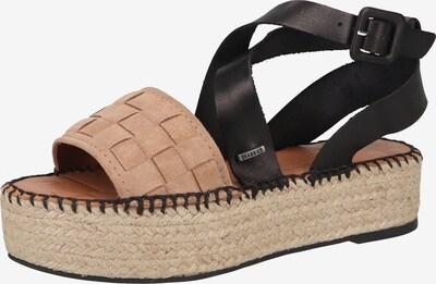 SHABBIES AMSTERDAM Sandale in beige / schwarz, Produktansicht
