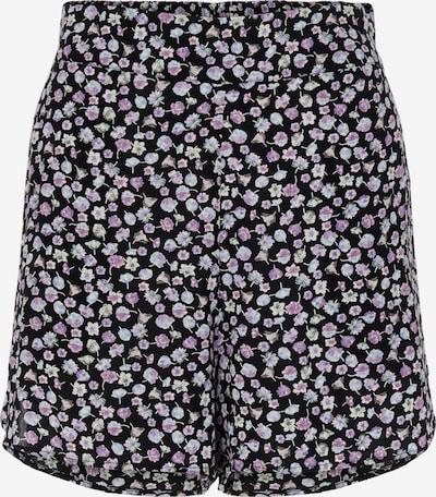 PIECES Shorts 'Nya' in hellblau / lila / schwarz, Produktansicht