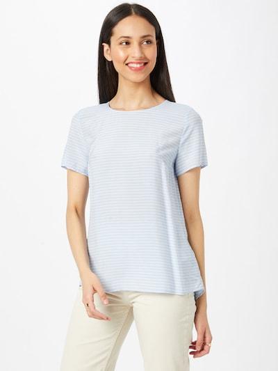 MORE & MORE Bluse in hellblau / weiß, Modelansicht