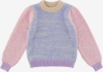 Little Pieces Pull-over 'Felisia' en bleu roi / jaune clair / violet clair / rose, Vue avec produit