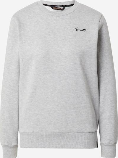 BRUNOTTI Sportiska tipa džemperis 'Farona', krāsa - pelēks / melns, Preces skats