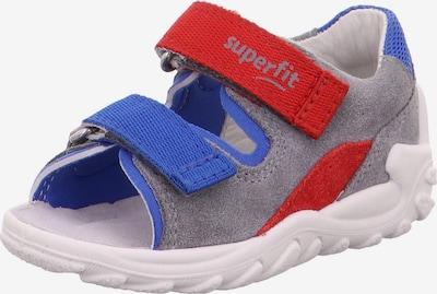 SUPERFIT Offene Schuhe  'FLOW' in blau / grau / rot, Produktansicht