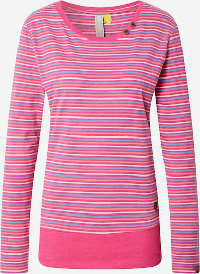 Alife and Kickin T-Shirt in hellblau / hellbraun / pastellorange / pink / weiß, Produktansicht