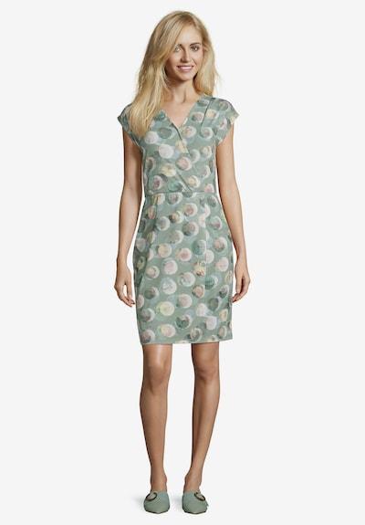 Betty & Co Jerseykleid ohne Arm in khaki / altrosa, Modelansicht