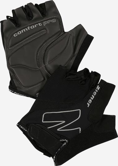 ZIENER Rękawiczki sportowe 'CRAVE' w kolorze srebrno-szary / czarnym, Podgląd produktu
