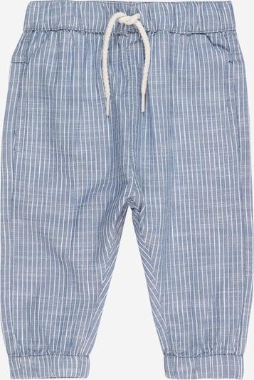 Hust & Claire Pantalon 'Tue' en bleu-gris / blanc, Vue avec produit