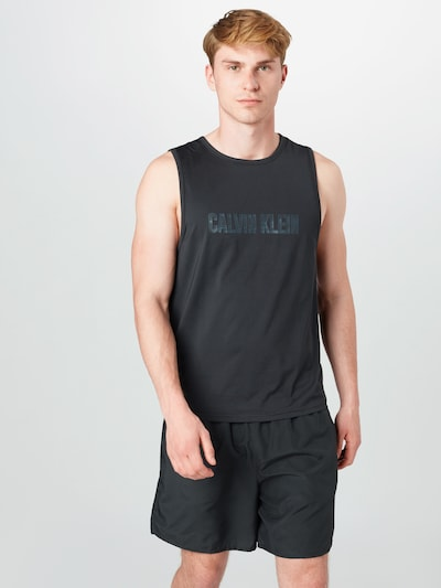 Calvin Klein Performance Koszulka funkcyjna w kolorze czarnym: Widok z przodu