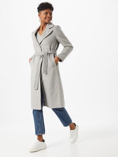 Rudeninis-žieminis paltas iš PIECES , spalva - šviesiai pilka, Modelio vaizdas