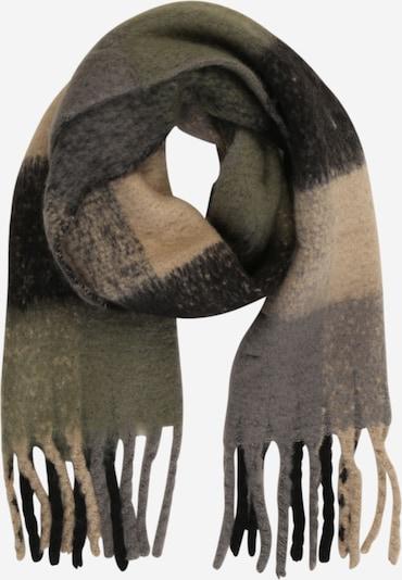 ONLY Schal 'Nicky' in beige / grau / dunkelgrün / schwarz, Produktansicht