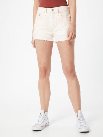 Jeans '501®' di LEVI'S in bianco