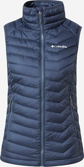 COLUMBIA Sportbodywarmer 'Powder Lite' in de kleur Donkerblauw / Wit, Productweergave