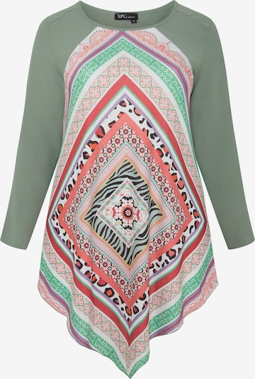 SPGWOMAN Print-Shirt in khaki / mischfarben, Produktansicht