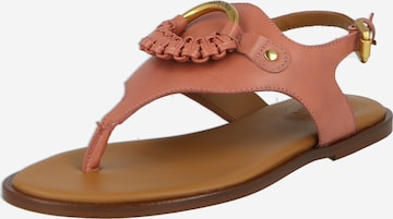See by Chloé T-Bar Sandals 'Hana' in Pink