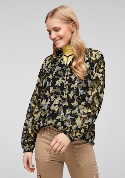 Bluză s.Oliver pe bej / opal / galben pastel / kaki / negru, Vizualizare model