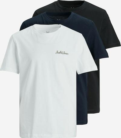 Jack & Jones Junior T-Shirt in blau / schwarz / weiß, Produktansicht