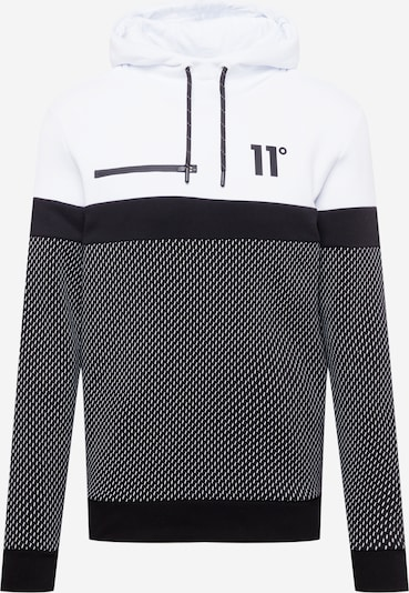 11 Degrees Sweatshirt in de kleur Zwart / Wit, Productweergave