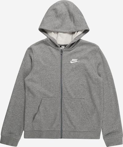 szürke melír / fehér Nike Sportswear Tréning dzseki, Termék nézet