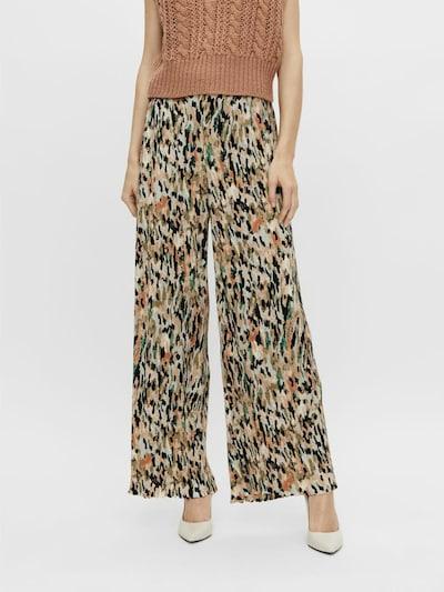 Y.A.S Pantalon 'Cantha' en beige / mélange de couleurs, Vue avec modèle