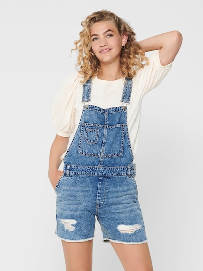 ONLY Latzjeans 'LAYLA' in blue denim, Modelansicht