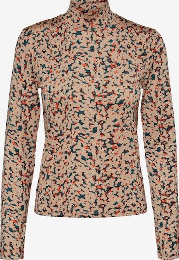 Noisy may Shirt 'Festive' in pastellblau / hellbraun / dunkelorange / schwarz, Produktansicht