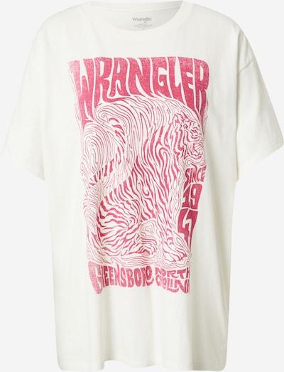 WRANGLER T-Shirt in pink / offwhite, Produktansicht