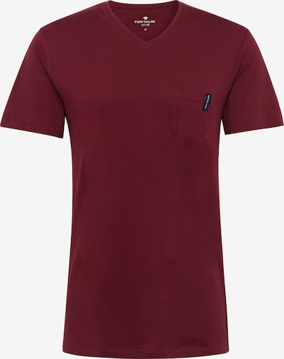 TOM TAILOR Pyjama T-Shirt in bordeaux, Produktansicht