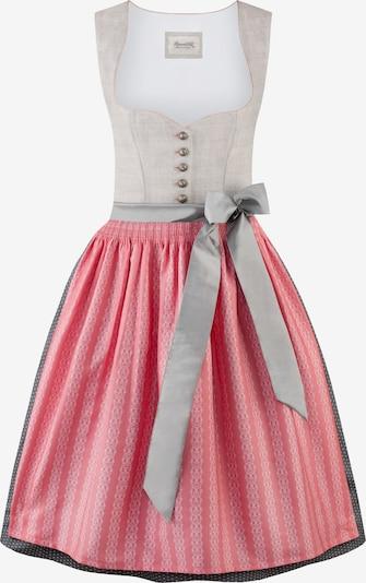 STOCKERPOINT Dirndl in grau / hellgrau / rosa, Produktansicht