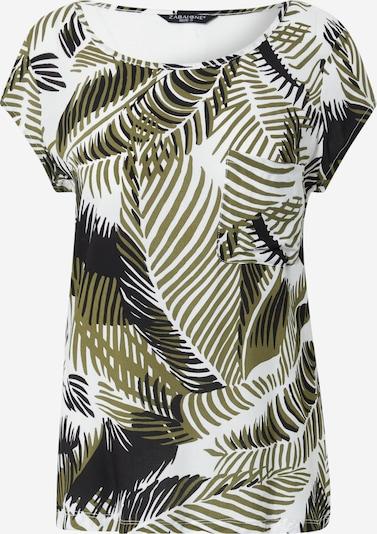 ZABAIONE Shirt 'Ida' in khaki / schwarz / weiß, Produktansicht