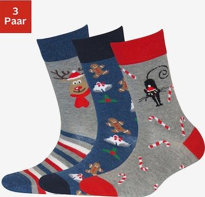 SYMPATICO Socken in blau / rot, Produktansicht