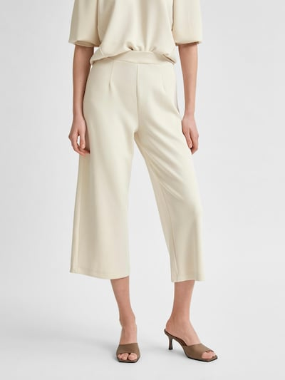 SELECTED FEMME Hose 'SLFTENNY MW CROPPED WIDE PANT B' in weiß, Produktansicht