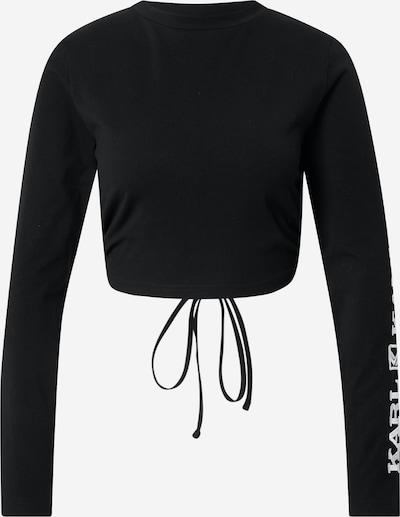 Karl Kani Shirt 'Retro' in de kleur Zwart / Wit, Productweergave