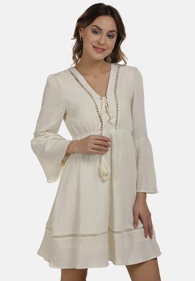 DreiMaster Vintage Kleid in wollweiß, Modelansicht
