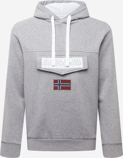 NAPAPIJRI Sweatshirt 'BURGEE WINT 1' in navy / graumeliert / dunkelrot / weiß, Produktansicht