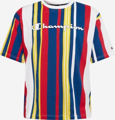 Champion Authentic Athletic Apparel Majica | modra / rumena / rdeča / bela barva: Frontalni pogled