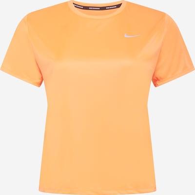NIKE Functioneel shirt 'Miler' in de kleur Koraal / Wit, Productweergave