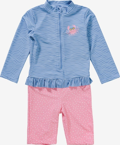 PLAYSHOES Badeanzug in hellblau / rosa / weiß, Produktansicht