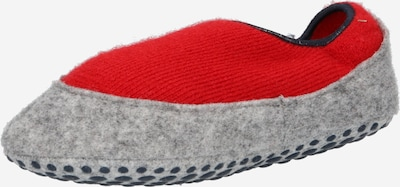 FALKE Pantoufle en gris chiné / rouge, Vue avec produit