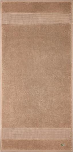 LACOSTE Handtuch 'LE CROCO' in beige, Produktansicht