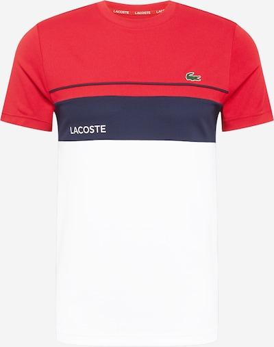 Lacoste Sport T-Shirt fonctionnel en bleu foncé / rouge / blanc, Vue avec produit
