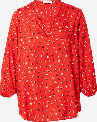GERRY WEBER Bluse in beige / feuerrot / schwarz / weiß, Produktansicht